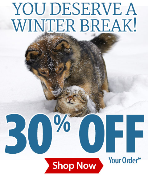 wag away winter with 30 off your order from