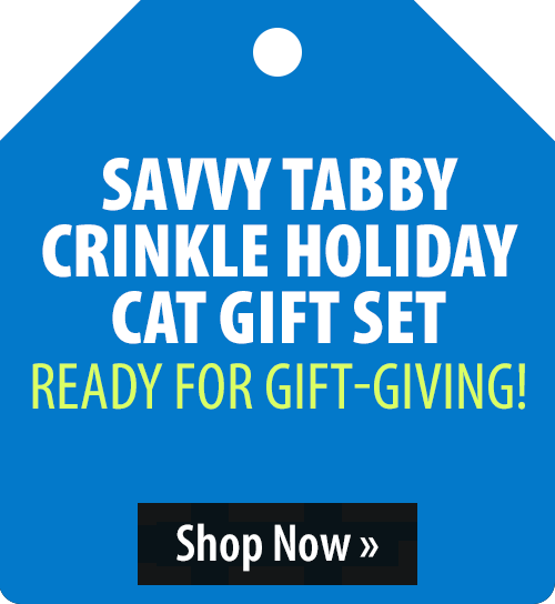 Savvy Tabby Crinkle Holiday Cat Gift Set